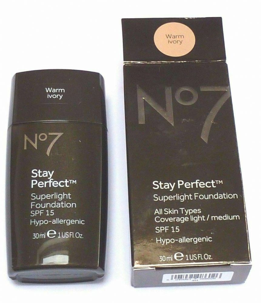 No7 STAY PERFECT SUPERLIGHT FOUNDATION 30ml SHADE COOL IVORY
